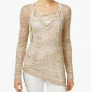 INC International Concepts Gold Metallic Sweater